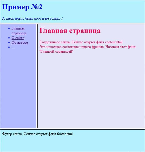 Пример №2 - исходное состояние