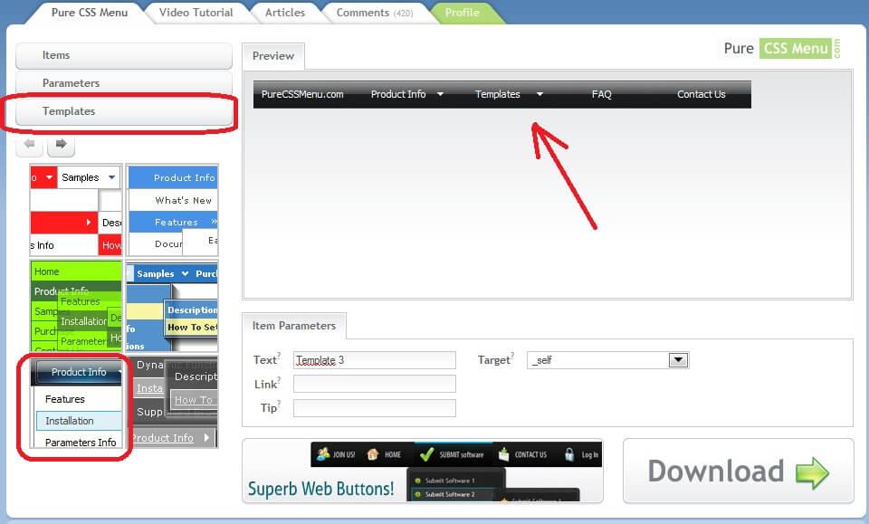 Как сделать html меню сайта