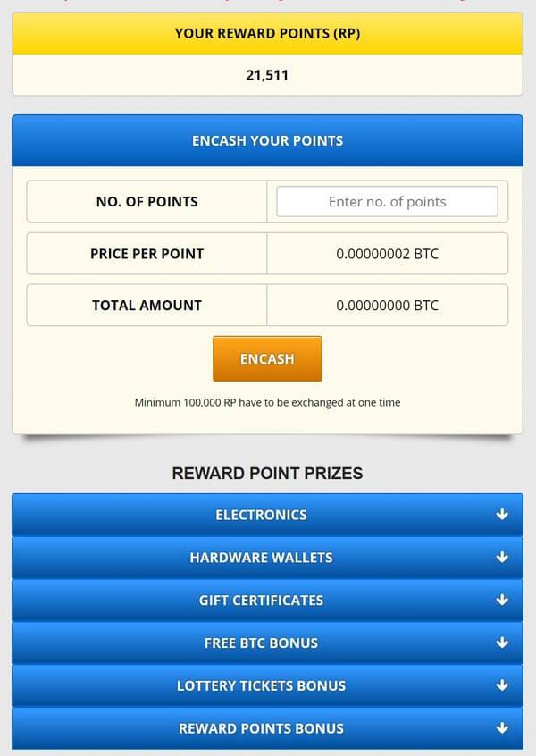 Бонусы на FreeBitco
