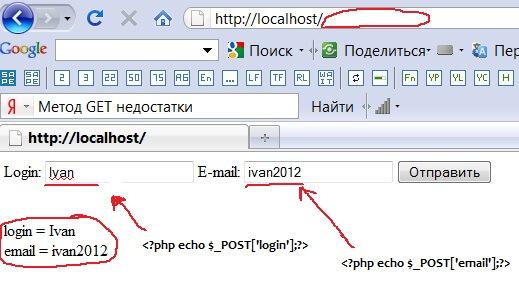 Не передаются значения из формы в php